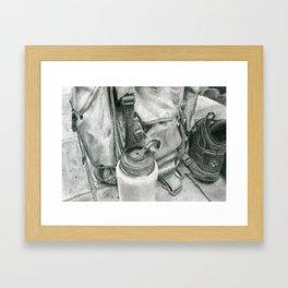 Hiking Gear, Still Life Framed Art Print