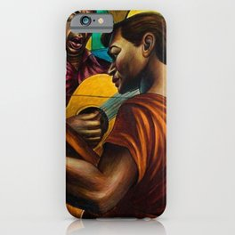African-American 1951 Classical Masterpiece 'Gospel Singers' by Charles White iPhone Case