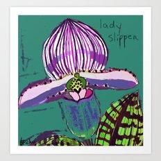 Lady Slipper Art Print
