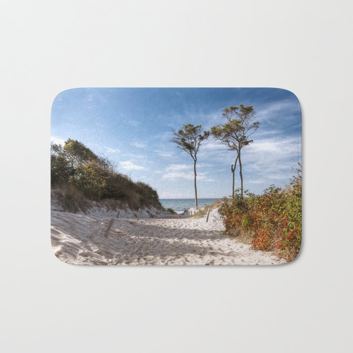 Entrance to the Sea - Ocean Beach Trees Bath Mat