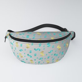 gold,blue silver metal dollar Fanny Pack