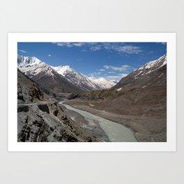 Chandra River Lahaul Valley Art Print