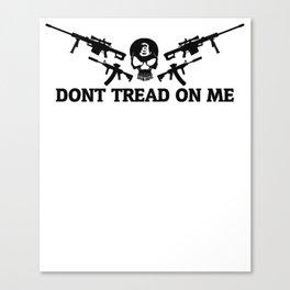 Don't Tread On Me Gadsden Skull Rifles Canvas Print