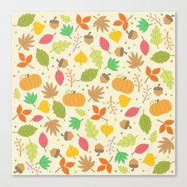 Thanksgiving pattern Canvas Print