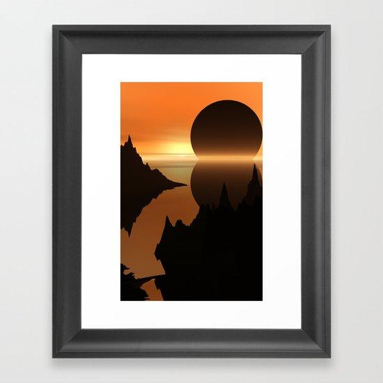 Sunset, Elsewhere Framed Art Print