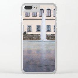 Castle fountain Clear iPhone Case