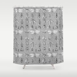 Collecting bugs Shower Curtain
