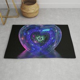 Magic Blue Heart Rug