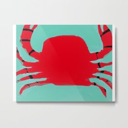 The Faceless Crab Metal Print