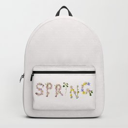 SPRING - Flower Typography Backpack