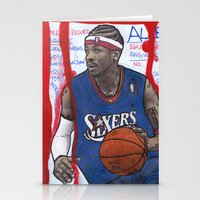 nba Stationery Cards featuring NBA PLAYERS - Allen Iverson by Ibbanez