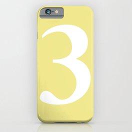 3 (WHITE & KHAKI NUMBERS) iPhone Case