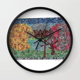 Your Backyard in Bricks Wall Clock