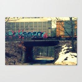 Bozo on a train Canvas Print