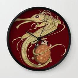 Dragon ith turtle Wall Clock