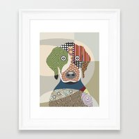 beagle Framed Art Prints featuring Beagle by Lanre Studio