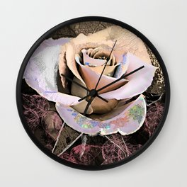 Vintage rose(2). Wall Clock