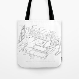 Korg MS-20 - exploded diagram Tote Bag