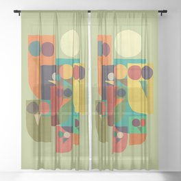 Owl squad Sheer Curtain