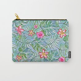 Exotic Floral Design Carry-All Pouch
