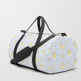 Bunny Moon Star Clouds Nursery Neutral Duffle Bag