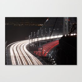 San Francisco Bay Bridge opening Canvas Print