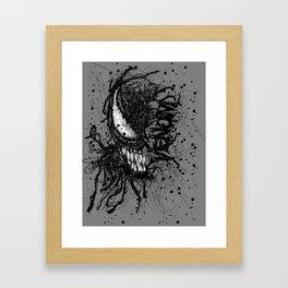 Venomistic Scribble Framed Art Print
