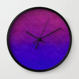 Deep Magenta Purple Ombre Watercolor Wall Clock
