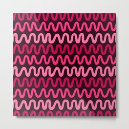 Bold Pink Waves Metal Print