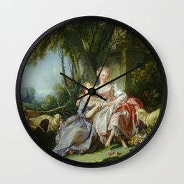 "François Boucher ""The love letter"" Wall Clock"