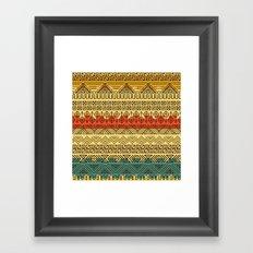 Aztec pattern Framed Art Print