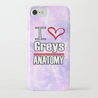 greys anatomy iPhone & iPod Cases featuring I love Greys Anatomy by QueenOfAwesome95