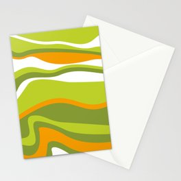 Pesto Orange and green Stationery Cards