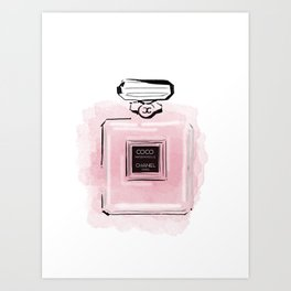 Pink perfume #3 Art Print