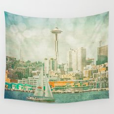 Seattle Skyline Wall Tapestry