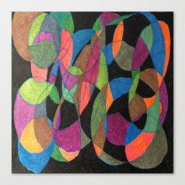 Intertwining Circles Canvas Print