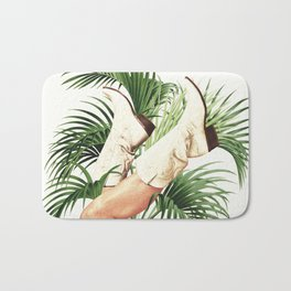 These Boots - Palm Leaves Bath Mat