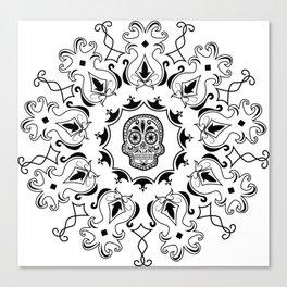 Ornate sugar skull Canvas Print