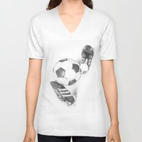 football V-neck T-shirts featuring Football by Dianadia