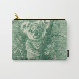 Vintage Koala Stamp Carry-All Pouch