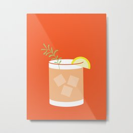 Rosemary Greyhound Cocktail Art Print Metal Print