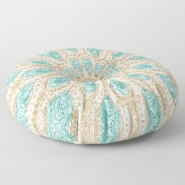 MMMOYSTERS Gold-Rimmed Oyster Mandala Floor Pillow