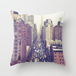 flying over first... (colour) Throw Pillow