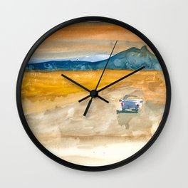 Trip to Marfa Wall Clock