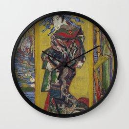 Vincent Van Gogh - Japanese - Oiran (after Kesai Eisen), 1887 Wall Clock