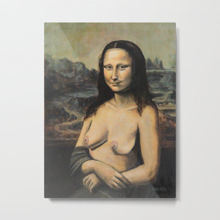 Moaner Lisa Metal Print