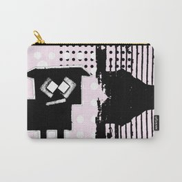ODD MIKEY Stuff - Black'n'pink Carry-All Pouch