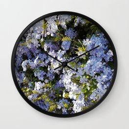 a violet flower in the heart of Athens Wall Clock