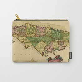 Map Of Jamaica 1690 Carry-All Pouch