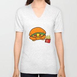 Food Series - Burger Unisex V-Neck